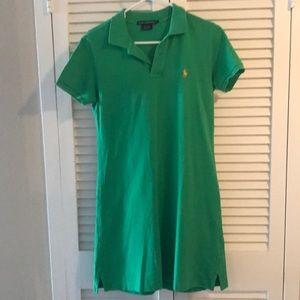 Green Ralph Lauren sport polo dress